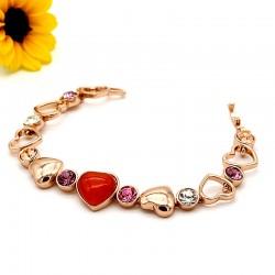 دستبند زنانه کریستالی طرح قلب برند Clio مدل B156