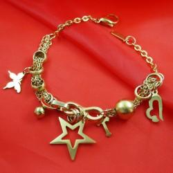 دستبند طرح ستاره و قلب مدل B140