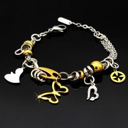 دستبند طرح پروانه و قلب مدل B138