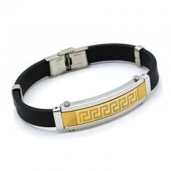دستبند مردانه بندی با بند لاستیکی مدل B163