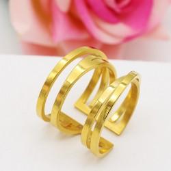 انگشتر زنانه استیل رنگ طلایی مدل R125