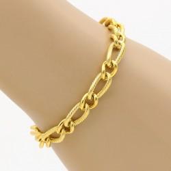 دستبند زنانه زنجیری استیل با رنگ طلایی مدل B244