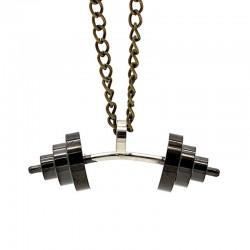 گردنبند هالتر خمیده مشکی جنس استیل مدل N178