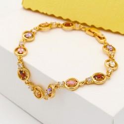 دستبند زنانه کریستالی رنگارنگ جنس استیل مدل B134