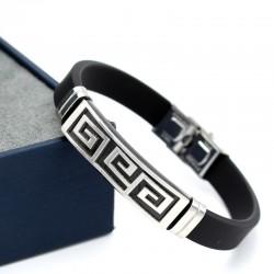 دستبند مردانه ورساچه با رنگ نقره ای و بدنه استیل مدل B173