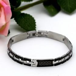 دستبند مردانه استیل طرح ورساچه مدل B182