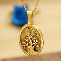 آویز استیل طرح درخت و پروانه رنگ طلایی مدل N290
