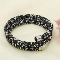 دستبند زنانه تمام نگین با رنگ مشکی مدل B266