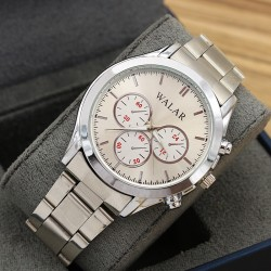 ساعت مچی مردانه شیک جنس استیل و رنگ نقره ای مدل F200