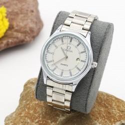 ساعت مچی مردانه شیک استیل رنگ نقره ای دارای تقویم و ضدآب مدل F211