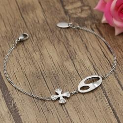 دستبند زنانه و دخترانه استیل با بند زنجیری مدل B327