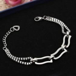 دستبند زنانه و دخترانه استیل با بند زنجیری مدل B328