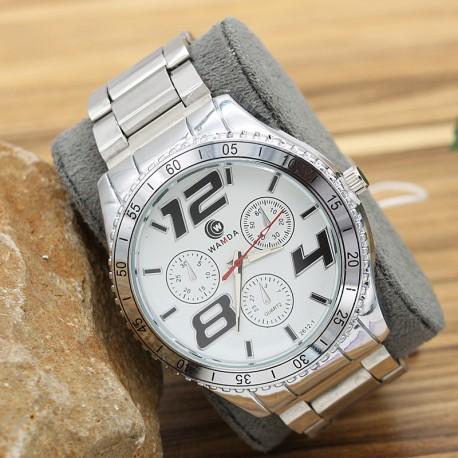 ساعت مچی مردانه شیک استیل نقره ای رنگ ضدآب مدل F237