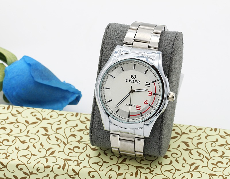 ساعت مچی مردانه شیک استیل نقره ای رنگ ضد آب مدل F240
