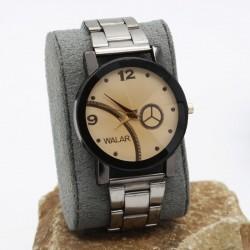 ساعت مچی اسپرت با بند و صفحه ی قهوه ای و طرح چرخ دنده مدل F248