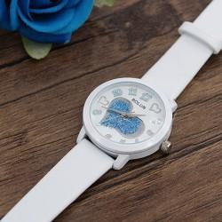 ساعت مچی دخترانه شیک با رنگ سفید و طرح قلب مدل F271