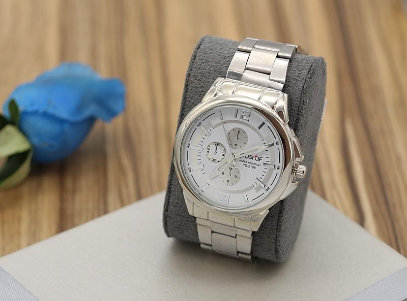 ساعت مچی مردانه شیک استیل نقره ای رنگ مدل F280