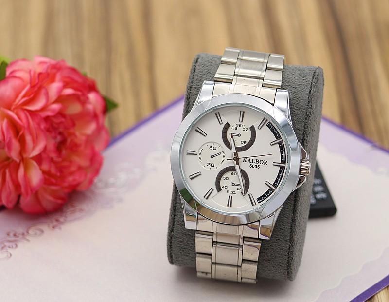 ساعت مچی مردانه شیک استیل نقره ای رنگ مدل F281