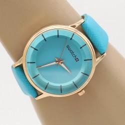 ساعت مچی زنانه و دخترانه رنگ آبی مدل F308