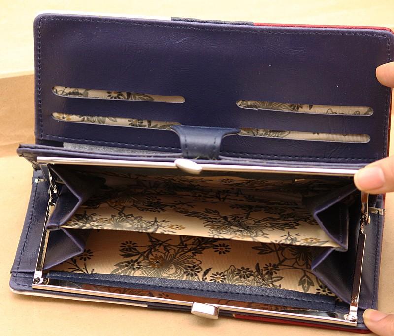 کیف پول سه رنگ تک زیپ مدل C103