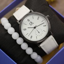 ساعت مچی زنانه با بند سفید مدل F344