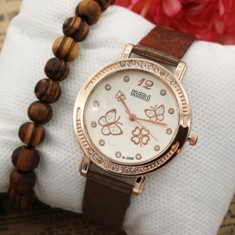 ساعت مچی زنانه با طرح پروانه مدل F362