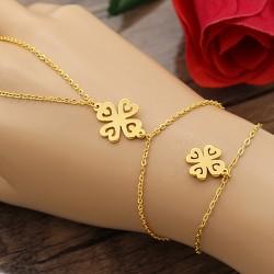 تمیمه استیل طلایی رنگ طرح گل مدل B363