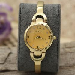ساعت مچی استیل طلایی مدل F402